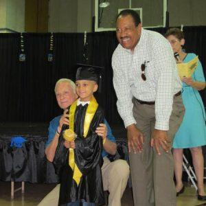 Tangelo Park 2-yr-old Graduation Pics: Mr. Harris Rosen with Student